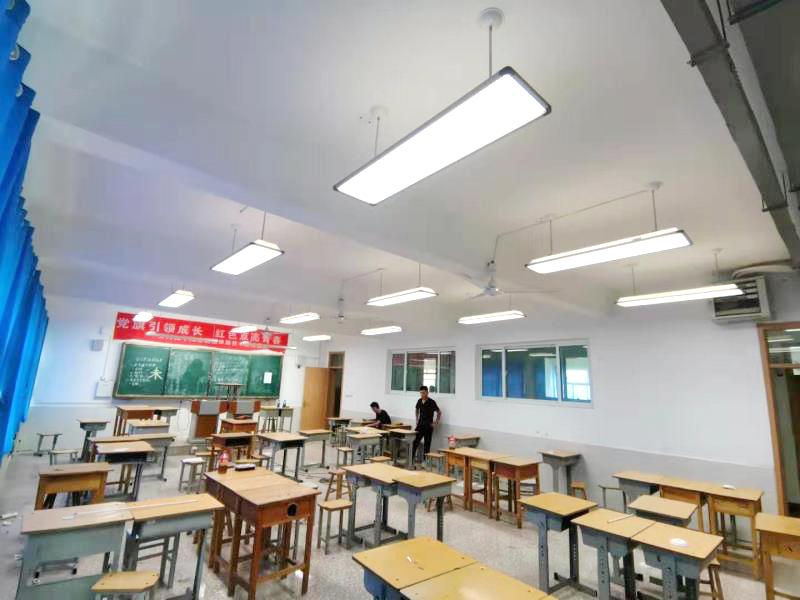 齐河三中教室led护眼照明改造